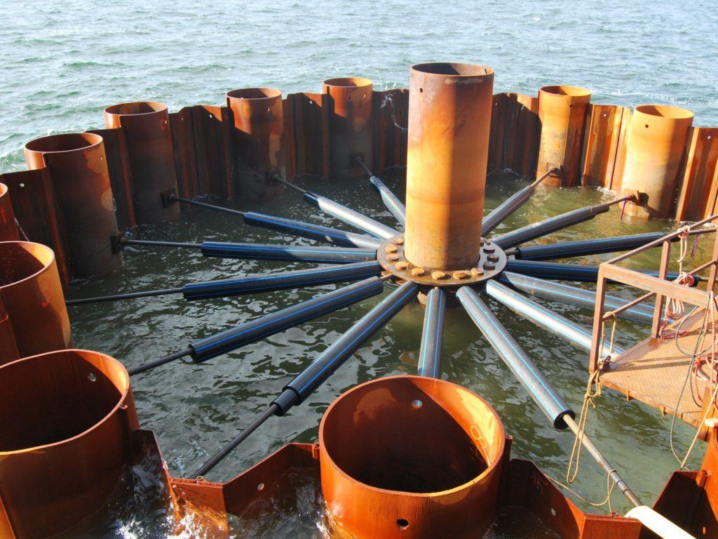 Budowa staw nawigacyjnych w Świnoujściu - ściągi hydrotechniczne