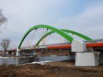 Most przez rzękę Warta w ciągu DW710 w Warcie, podwieszenie linowe