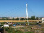 Kładka pieszojezdna nad rzeką San w Przemyślu, podwieszenie linowe