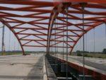 Most MPZ42 w ciągu A4 Rzeszów - Korczowa, podwieszenie linowe