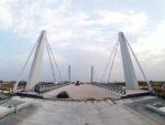 Most zwodzony w ciągu DW501 w Gdańsku Sobieszewie, podwieszenie prętowe